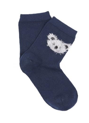 Mavi Baskılı Çorap Mavi